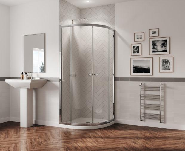 800x800mm Chrome Coram GB GBQD280CUC 1800mm Quadrant Shower Enclosure
