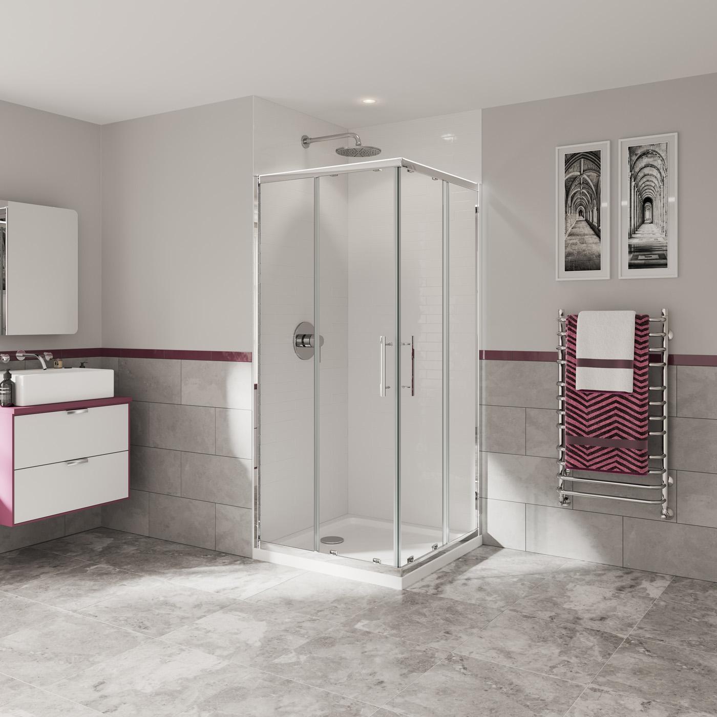 Home Furniture Diy Shower Enclosure 3 Sided Corner Entry