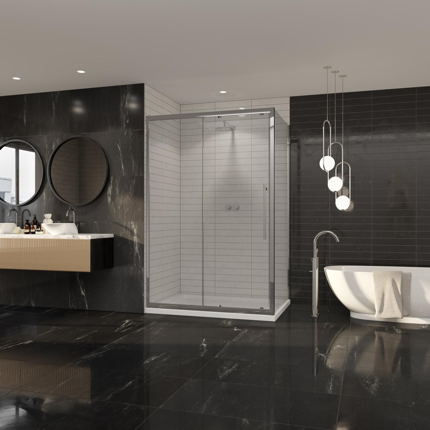 Premier 8 Side Panel Chrome Shower Enclosure Accessories Coram Showers
